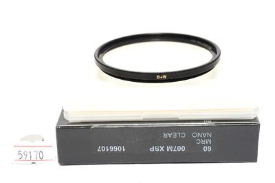 B+W 60mm 007 Clear MRC Nano   XS-Pro Digital 滤镜 *美品连盒*
