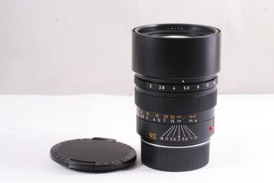 98新/徕卡Summicron-M 90/2 E55 (黑色版加产 自带遮光罩)