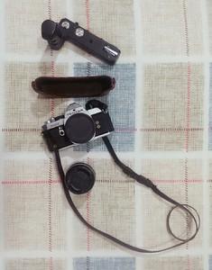 宾得 Pentax MX+手柄+蔡司镜头+真皮相机套