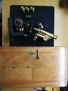 出个极品成色蔡司百年纯铜显微镜