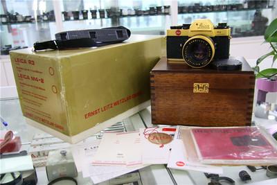 Leica徕卡 R3+LEITZ SUMMILUX-50/1.4 金色限量版本套机 包装全
