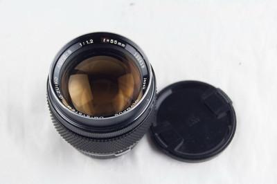 奥林巴斯OM 55 1.2 白嘴镜头 极美品好成色