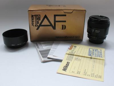 成色不错原装尼康AF 85 F1.8D 大光圈人像定焦带包装支持置换5669