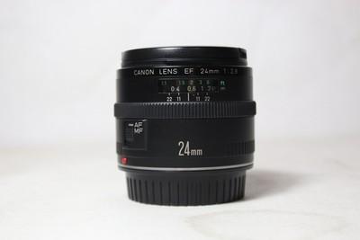 96新二手 Canon佳能 24/2.8 EF 广角定焦镜头(T10308)【津】