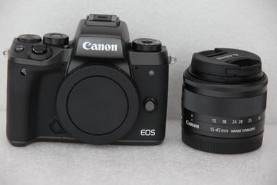 99新Canon/佳能EOS M5套机(15-45mm)包装配件齐全 M5单电微单相机