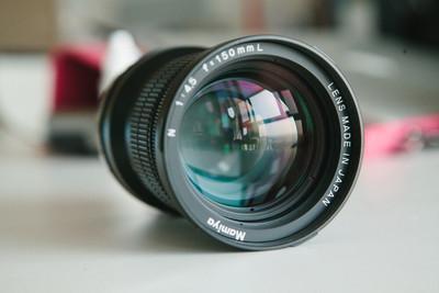 98新的玛米亚7 150mmF4.5中焦头