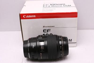 佳能 EF 100/2.8 微距 佳能100/2.8 佳能 100/2.8 98新 带包装