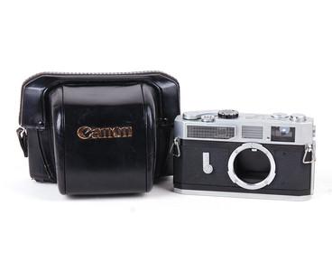 佳能 canon 7 银色机身 带皮套 #jp17413