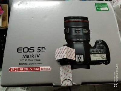 佳能 EOS 5D Mark IV+24-70/F4国行套机,仅拆封条