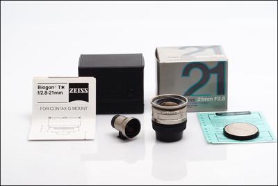 康泰时 Contax G 21/2.8 Biogon T* 带取景器 带包装