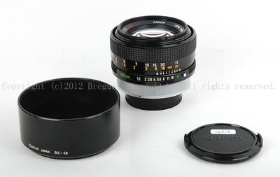 【美品】佳能 FD 55/1.2 S.S.C 镜头,带光罩!#jp14758