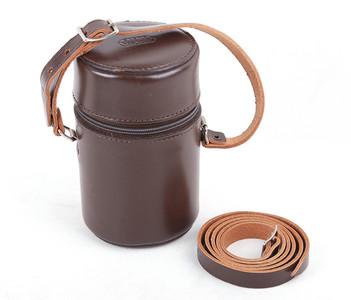 徕卡E.Leitz LeatherTopGrainCowhide#4棕色真皮镜头皮桶#jp18942