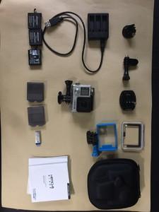 GoPro Hero4 Black 整套带三块电池防水盒等