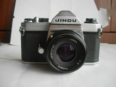 很新少见白色金都S207M经典相机带原50头,设计无测光,收藏上品
