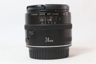 97新二手 Canon佳能 24/2.8 EF 广角定焦镜头(T10485)【津】