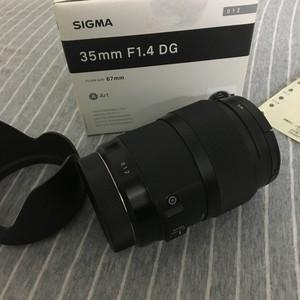 适马 35mm f/1.4 DG HSM(A)佳能口+B+WUV镜