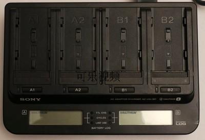 二手 索尼高级摄像机充电器SONY AC-VQL1BP四槽充电器F970 8成新