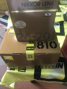 尼康 D810套机24-70mmf2.8 ED 全新正品国行 出手