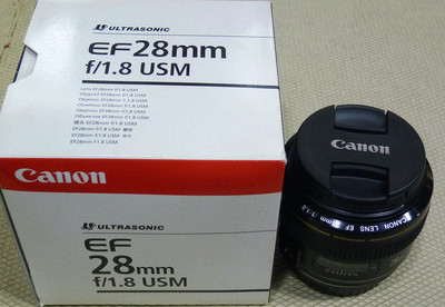 佳能 EF 28/1.8 USM带包装