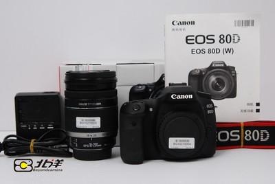 98新 佳能 80D+EFS18-200 IS镜头 行货套机(BG10210004/5)
