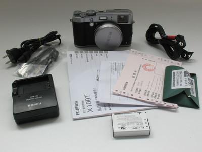 成色极好国行Fujifilm/富士 X100T 复古旁轴相机银色快门两千0175