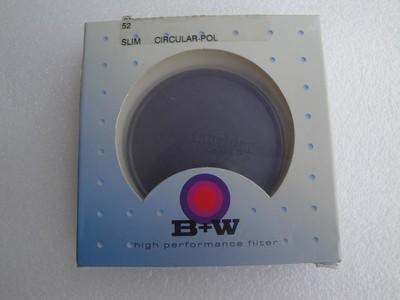 库存全新 包装未拆封 B+W 52mm 超薄CPL偏振镜