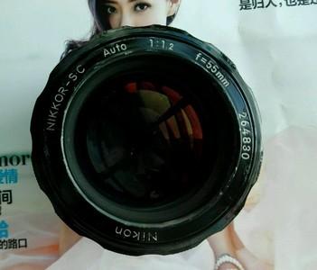美丽的大眼睛尼康 NIKON AUTO S.C 55/1.2 夜之眼