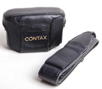 【美品】Contax/康泰时 T3/T3D用黑色皮套 带背带 #jp17784