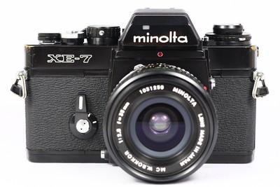 美能达 Minolta XE7 日产135胶片单反相机 + rokkor 35/2.8 套机