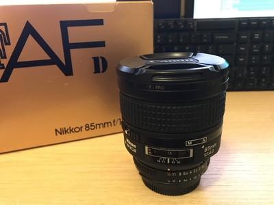 尼康Nikon 85mm f/1.4D 全包装配件,自用转让