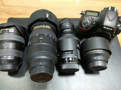 尼康 D800  70-200F2.8  16-35F4  85F1.8  50F1.8    全画幅