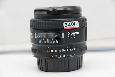 95新二手Nikon尼康 35/2 D AF 广角定焦镜头 (2490)【深】