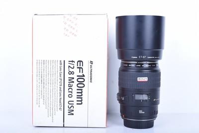 96新二手 Canon佳能 100/2.8 USM 百微镜头(B1629)【京】