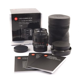 徕卡summilux M 50/1.4ASPH6bit 红字黑铬版#HK7348