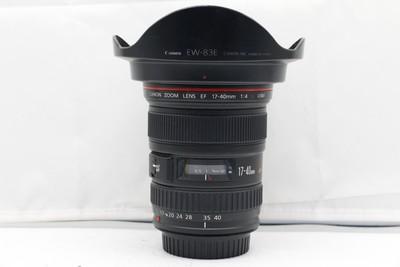 95新二手 Canon佳能 17-40/4 L USM 广角镜头(1645)【深】
