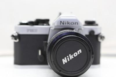 96新二手Nikon尼康 FM2 套(50/1.4)胶片机铝帘(1834)【深】