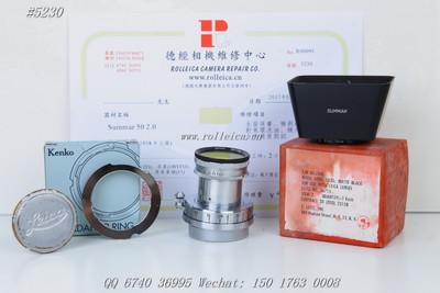 (5230) Summar 50f2 黑白名镜 罕见成色 原装遮光罩黄镜 ¥3700