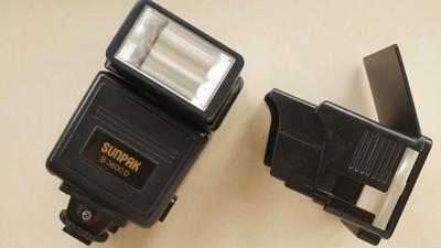 sunpak新霸b3600d/433d闪光灯带变焦配件tl8