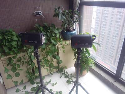 金贝摄影灯套装400W2个 带原装支架