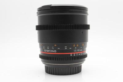 三阳 samyang 85mm T1.5 三阳85 1.5T佳能口电影镜头 F1.4摄影头