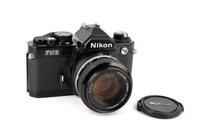 Nikon/尼康 FM2 黑色 +Nikkor 50/1.4 套机 #33036
