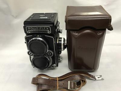 禄来 Rolleiflex 2.8F 蔡司 planar镜头 白脸带原厂皮套