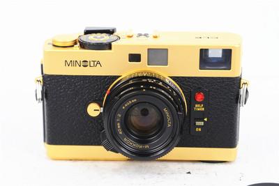 Minolt美能达 CLE+M-Rokkor 40/2旁轴胶片相机 金色版本 实体现货