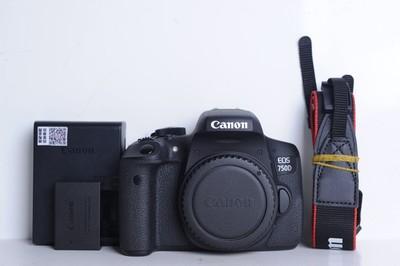 98新二手Canon佳能 750D 单机 入门相机(B8129)【京】