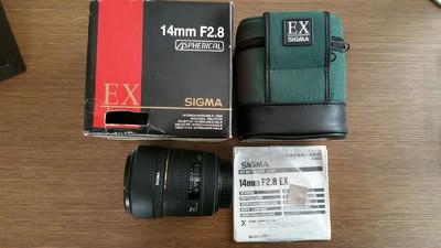 sigma适马14 f/2.8 EX HSM(EF口)超广定焦(箱说全,无霉无修)