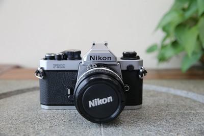 95新二手Nikon尼康 FM2 套(50/1.4)胶片机铝帘(W12321)武