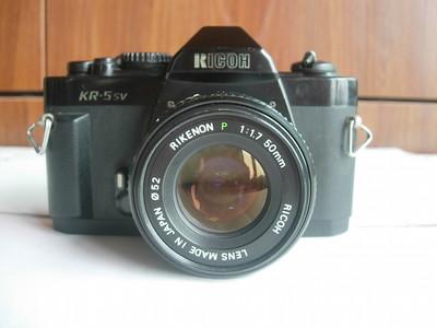 较新理光KR-5SV机械快门单反相机带50mmf1.7镜头,收藏使用