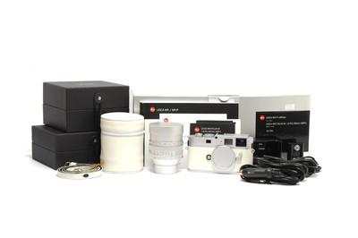 徕卡/Leica M9-P白色限量版套机 连50mm F/0.95银色铜镜头 *全新*