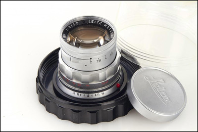 徕卡 Leica M 50/2 SUMMICRON DR Rigid 极品成色 带玻璃盅