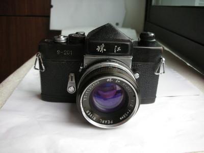 较新珠江S201金属制造单反相机带58mmf2镜头,收藏使用
